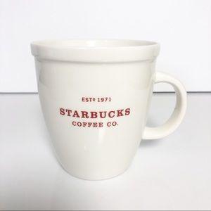 Starbucks red and cream Holiday 2017 Coffee Mug